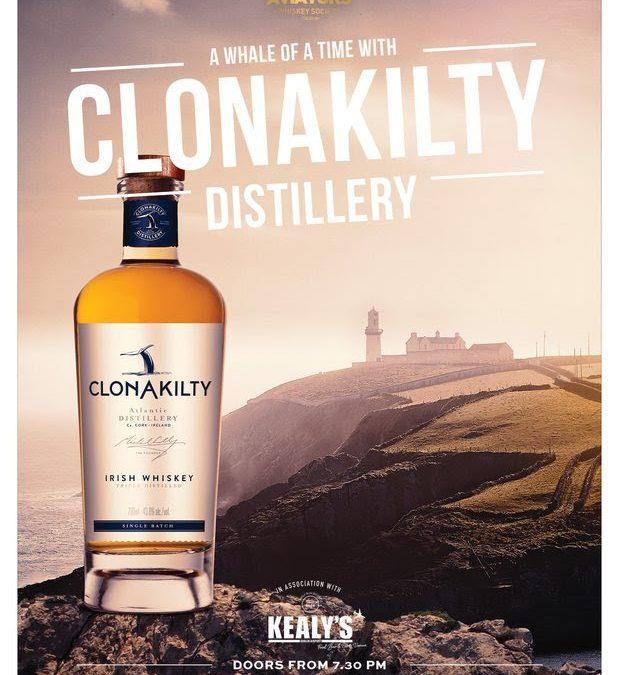 Clonakilty Whiskey Tasting with the Aviators Whiskey Society
