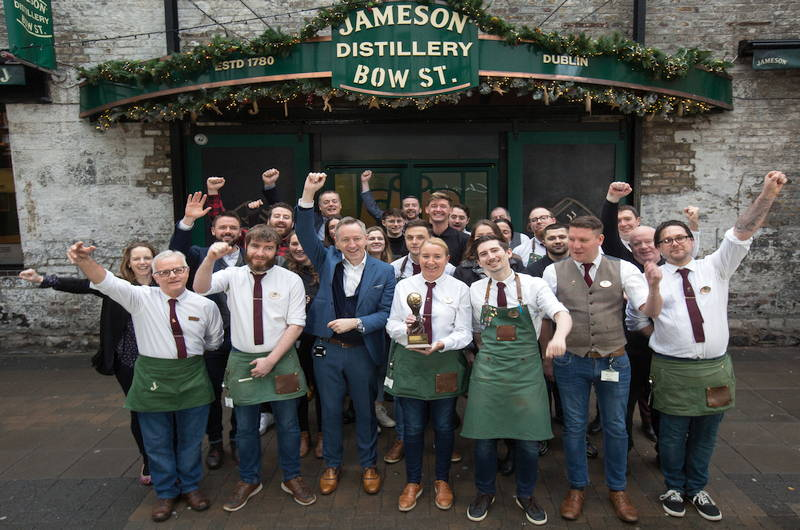 Jameson Bow St win world's leading distillery tour award
