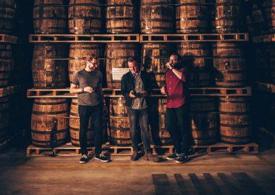 Beer barrel aged whiskeys