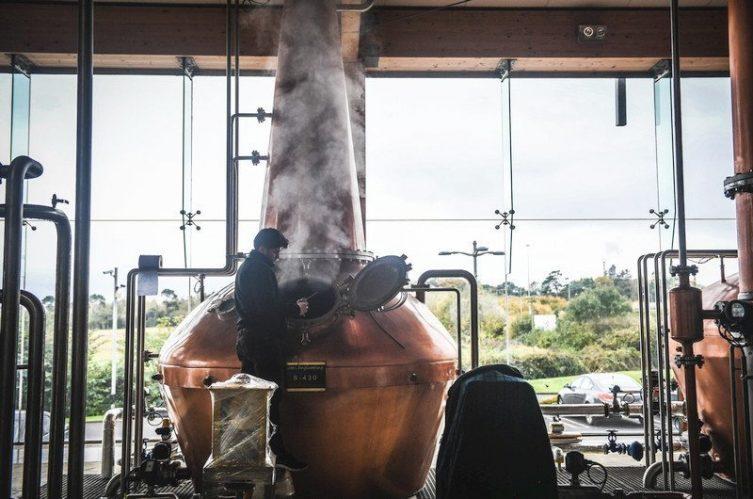 Irish Whiskey Magazine - Boann Distillery - Pot Stills Running
