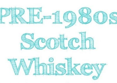Pre-1980s Scottish Whisky