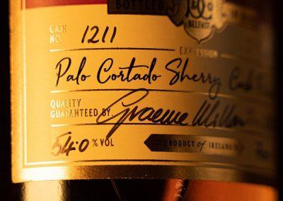 Dunvilles 18yo Palo Cortado cask strength single malt Irish whiskey