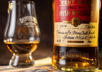 Dunville's 20-year-old Oloroso and PX Sherry casks finish